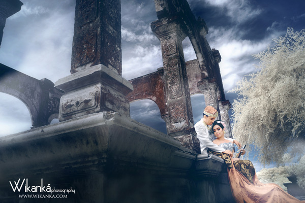 prewedding infrared taman ujung